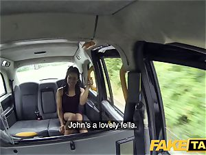 faux taxi quick screwing and creampie for peachy butt