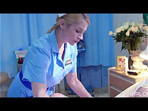 GIRLCORE g/g Nurses Give teenager Patient Vaginal examination