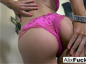 Alix Lynx makes sure she is pleased