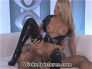 Jessica Drake sensationally smashing in rubber