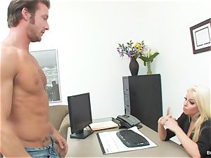 lucky man romps chief Britney during his job interview