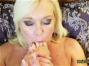 milf onanism and Toe inhaling ejaculations with Ms Paris