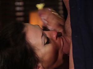 Rachel Starr drilling an unexpected visitor