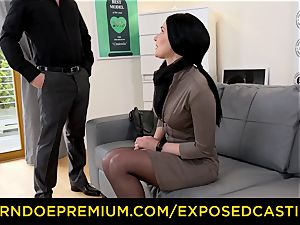exposed casting - steamy Czech babe plunged by stallion