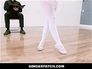 GingerPatch - ginger-haired Ballerina riding Judges giant penis