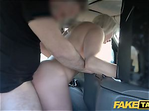 fake taxi light-haired milf Victoria Summers drilled in a cab