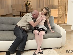 DADDY4K. hookup of dad and youthful woman ends with sudden internal cumshot