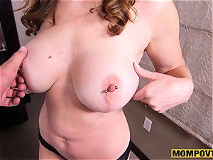 cute enormous titties fledgling wife romped pov
