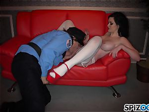 ultra-kinky dark-haired Kendall Karson romped by policeman in the stripclub