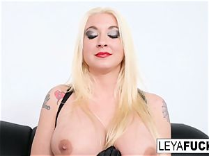 hot large tittie blondie Leya gets her rump drilled