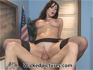 drowsy student is boinked by schoolteacher Kendra eagerness