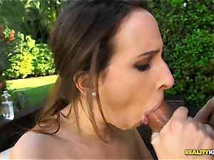 phat innate bra-stuffers Ashley Adams thrashed in her super-hot vag