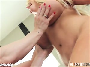 My mother bought a new strap-on and attempt it on me