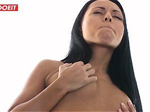 voluptuous lesbian douche orgy with Czech brunette babes