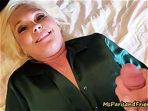 super-sexy Satin practices with Ms Paris Rose