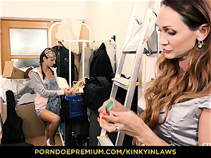 wild INLAWS - Gina Gerson pulverized by milf with magic wand